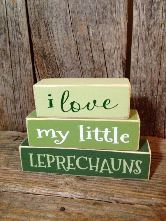 St. Patrick's Day i love my little Leprechauns