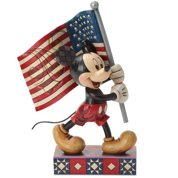 Jim Shore® Mickey Mouse Old Glory Flag Figurine