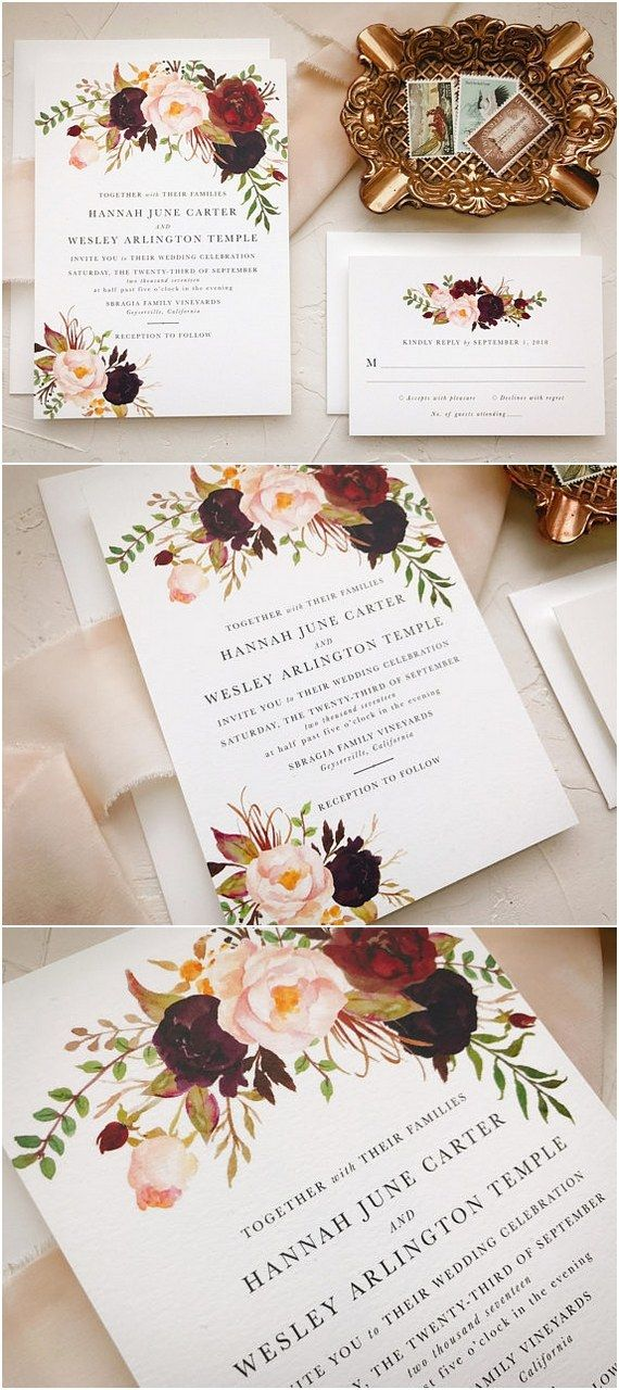 Top 10 Wedding Invitations from Etsy for