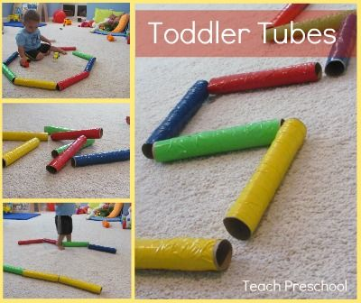 Make Toddler Tubes from Papertowel tube