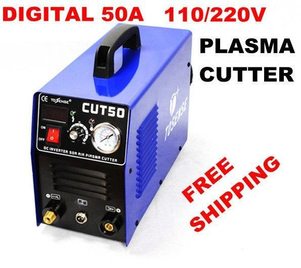[Visit to Buy] Free Shipping New 50Amp Air Plasma Cutter DC Inverter 50A cutting factory direct sale with pt31 torch and consumables #Advertisement