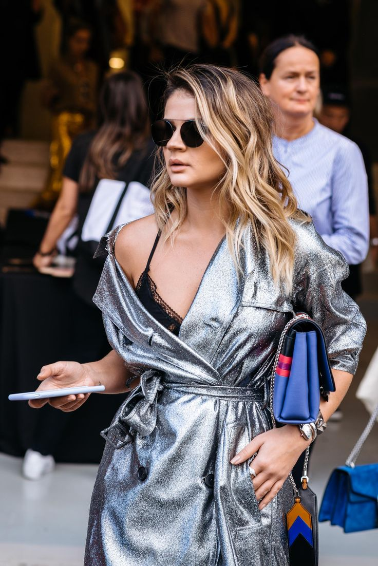 Brazilian blogger Thassia Naves street style at New York Fashion Week - Photo by Maria Gibbs