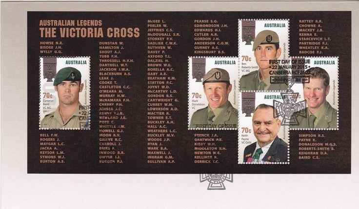 2015 Australian Legends  The Victoria Cross Recipients  (Mini Sheet) FDC