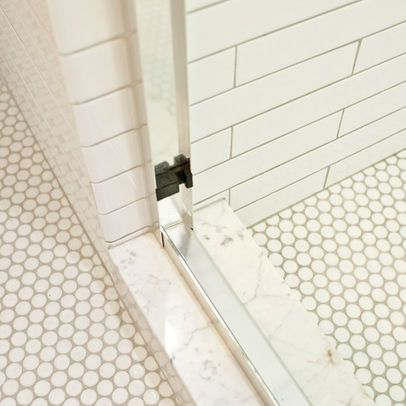 white penny tile grey grout google search master bath pinterest tile bath and grout. Black Bedroom Furniture Sets. Home Design Ideas