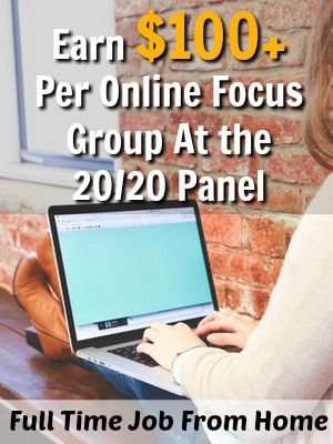 Learn How You Can Make Over $100 Per Online Focus Group at the 20/20 Panel!