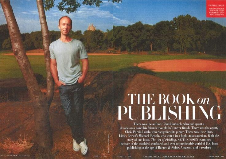 La copertina dell'articolo dedicato da Vanity Fair alla cronistoria del libro di Chad  Vanity Fair's feature on Chad's book