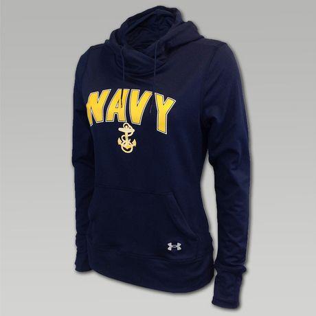 UA Navy Womens Logo Hood | ArmedForcesGear.com