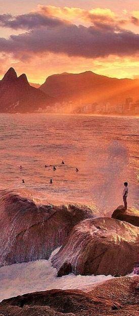 Arpoador Beach  Rio de Janeiro, Brazil