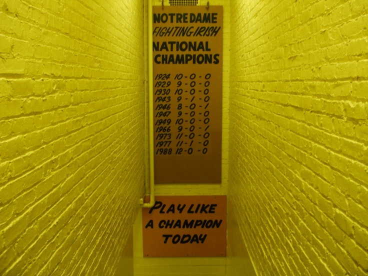 Tunnel to Notre Dame  stadium