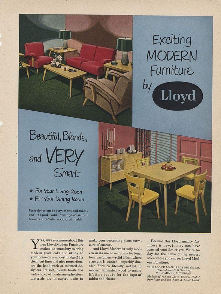 Vintage Print Ad - Lloyd Furniture (a Heywood Wakefield company)