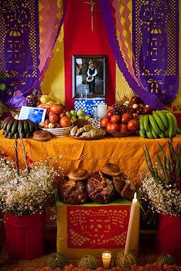 Day of the Dead altar in Mexico
