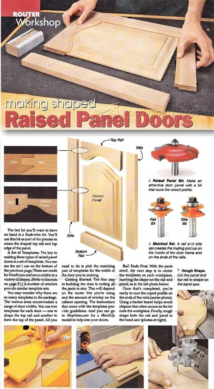 Making Raised Panel Doors - Cabinet Door Construction Techniques | WoodArchivist.com