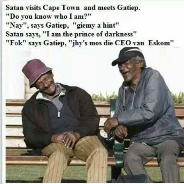 #Eskom #jokes #South Africa #electricity #gatiep