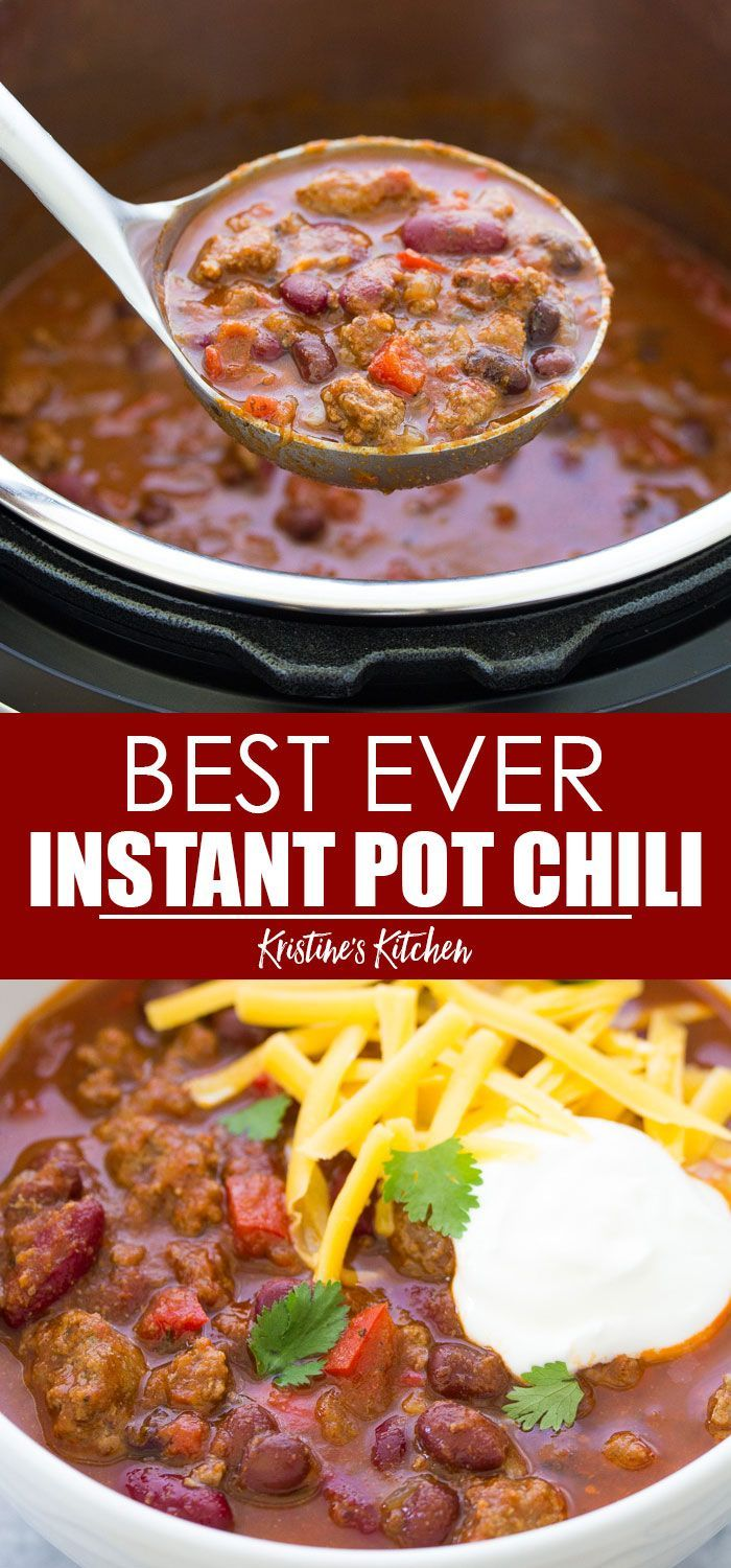 Instant Pot Chili In 2020 Ground Beef Chili Recipes Healthy Steak Recipes Healthy Recipes