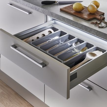Get frustrated by dark spaces at the back of drawers.  Howdens offer LED Retro-fit drawer lights.  The perfect solution.