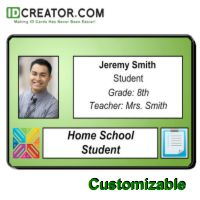 Home School Student Id Card  School Id Cards