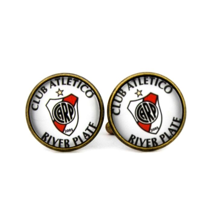 Club Atlético River Plate Logo cufflinks. Argentina football club. Personalised Silver Men's jewelry accessories gift. by Mysstic on Etsy