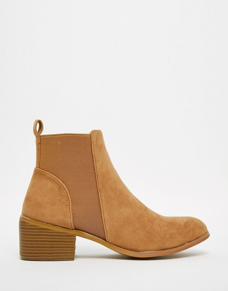 Shop Daisy Street Tan Western Style Heeled Ankle Boots at ASOS.