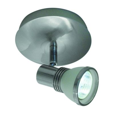 BAZZ Bazz PX7081 Brushed Chrome 1 Light White Frosted Shade Ceiling Spot Light