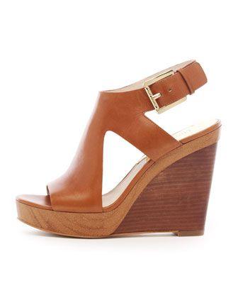 MICHAEL Michael Kors  Josephine Leather Wedge Sandal.