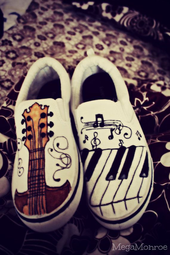 I would put an acoustic guitar in one shoe and an electric guitar on the other!!!!