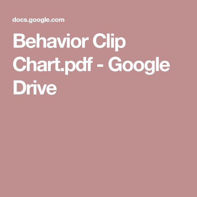 Behavior Clip Chart.pdf - Google Drive