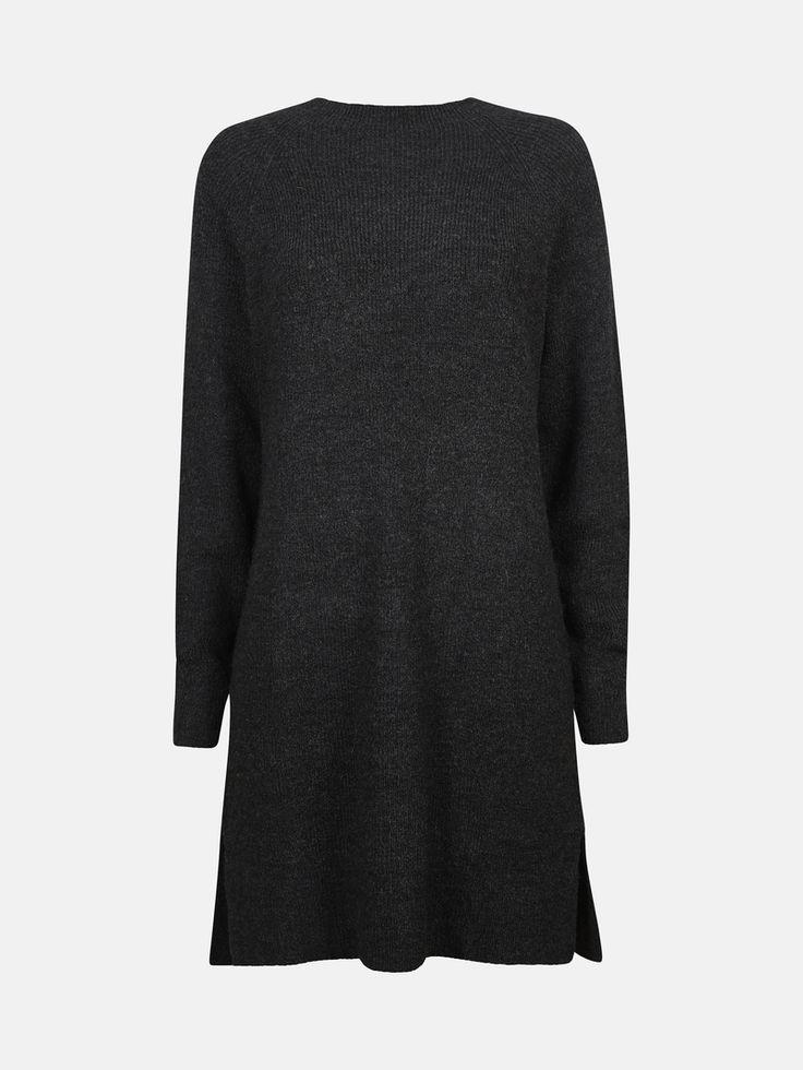 CUBUS - Jenny strikket genserkjole i sort melert 399,-