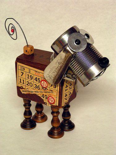 Assemblage Art Junkyard Dog |