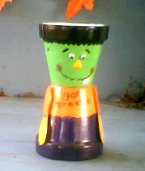 Frankenstein candy dish: Frankenstein Candy, Halloween Crafts, Frankenstein Craft, Candy Dishes, Craft Ideas, Halloween Ideas, Pot Crafts, Clay Pots