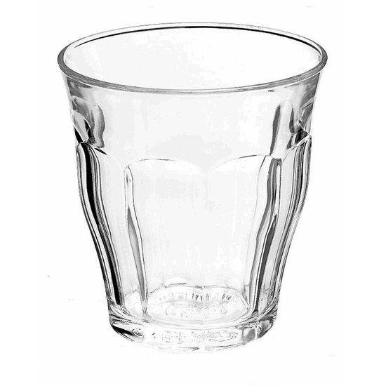 Duralex Picardie tumbler - hardglas (sterk), stapelbaar - 0.25 l - 6 stuks - multifunctioneel (koude en warme dranken) o.a. voor  water, frisdrank, sap, smoothies, koffie, thee en zelfs wijn en cappuccino - ook in 9, 22, 31, 36, 50 cl - 13,79