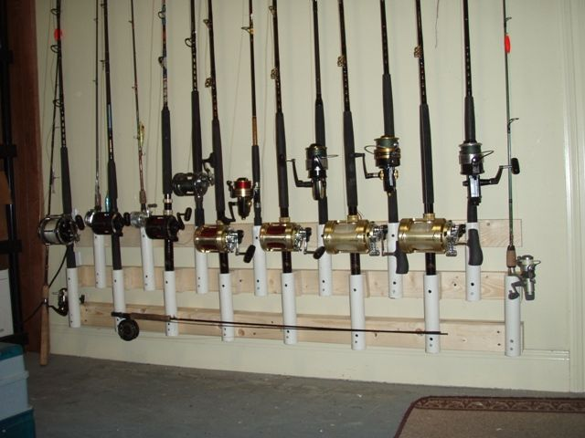 garage rod holders the hull truth boating and fishing forum fishing rods pinterest. Black Bedroom Furniture Sets. Home Design Ideas