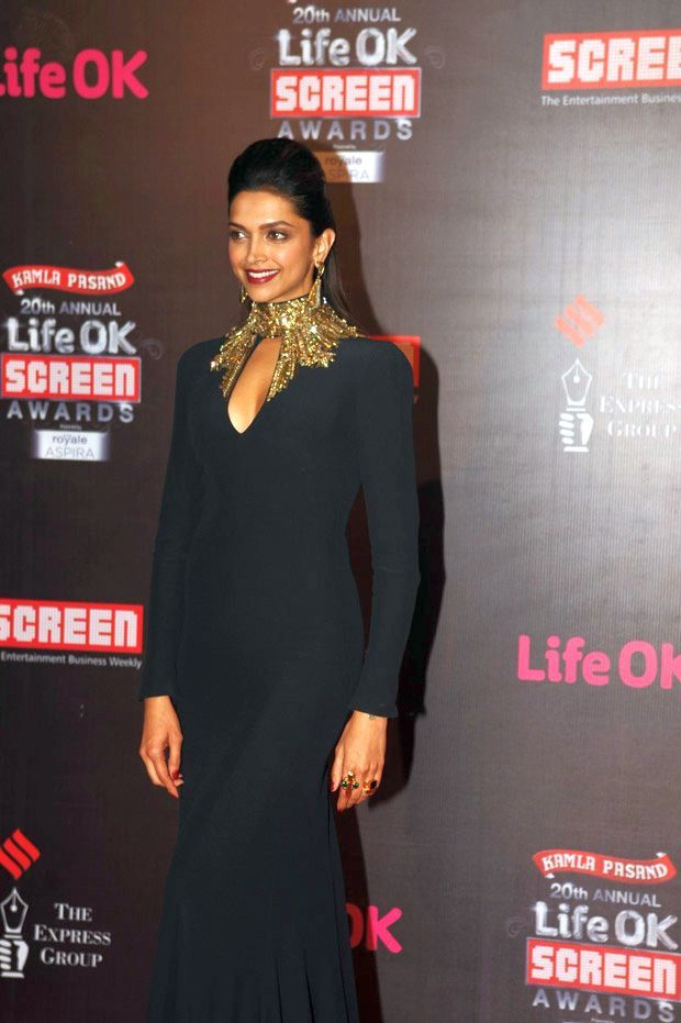 Best Actress Deepika Padukone at 20th Annual Life OK Screen Awards 2014