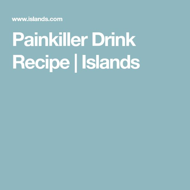 Painkiller Drink Recipe | Islands