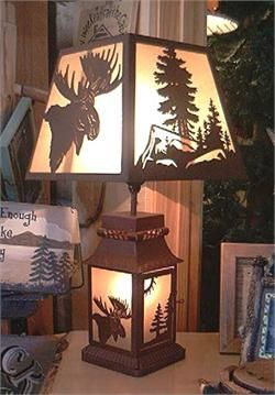 Moose and Cabin Decor...must have this lamp!