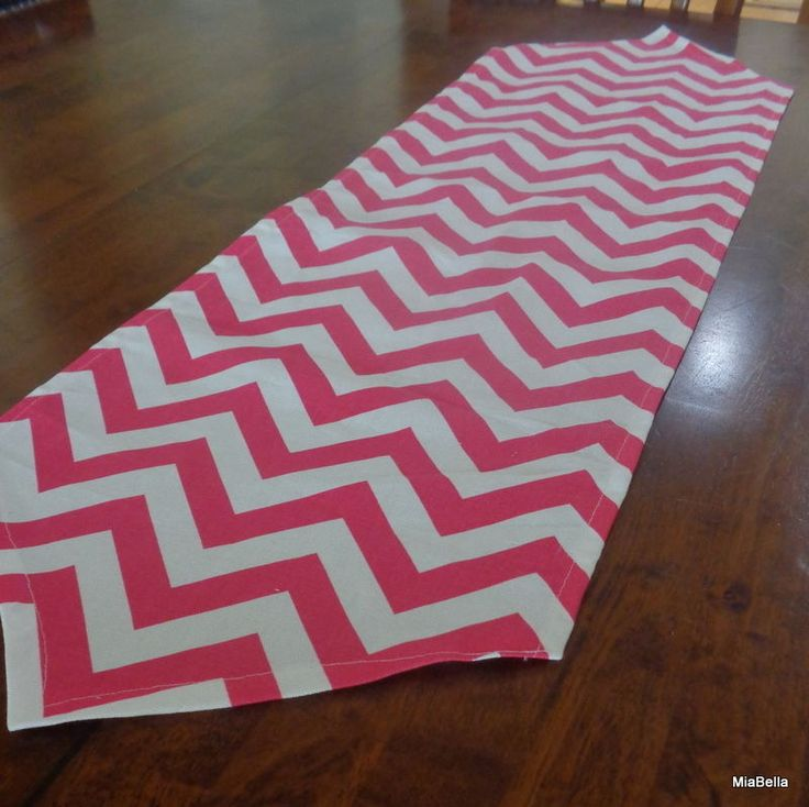 Candy Pink Chevron Table Runner   Home Decor, Parties, Showers #Handmade