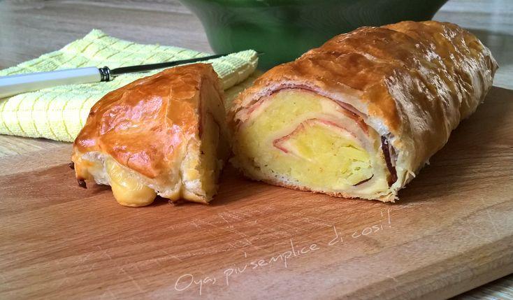 Rotolo di sfoglia con patate e speck, ricetta saporita. http://blog.giallozafferano.it/oya/rotolo-di-sfoglia-con-patate-e-speck/