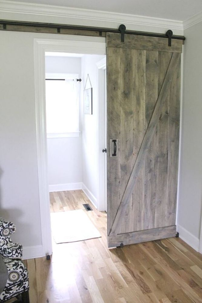 Diy Sliding Farmhouse Door Old Barn Doors Building A Barn Door