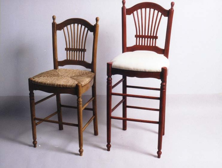 Sheaf Back Bar Stool Rush Or Upholstery Seat Made In