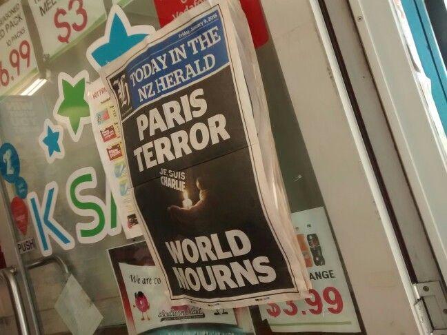 En NZ comme en France on est touchés par ce drame.