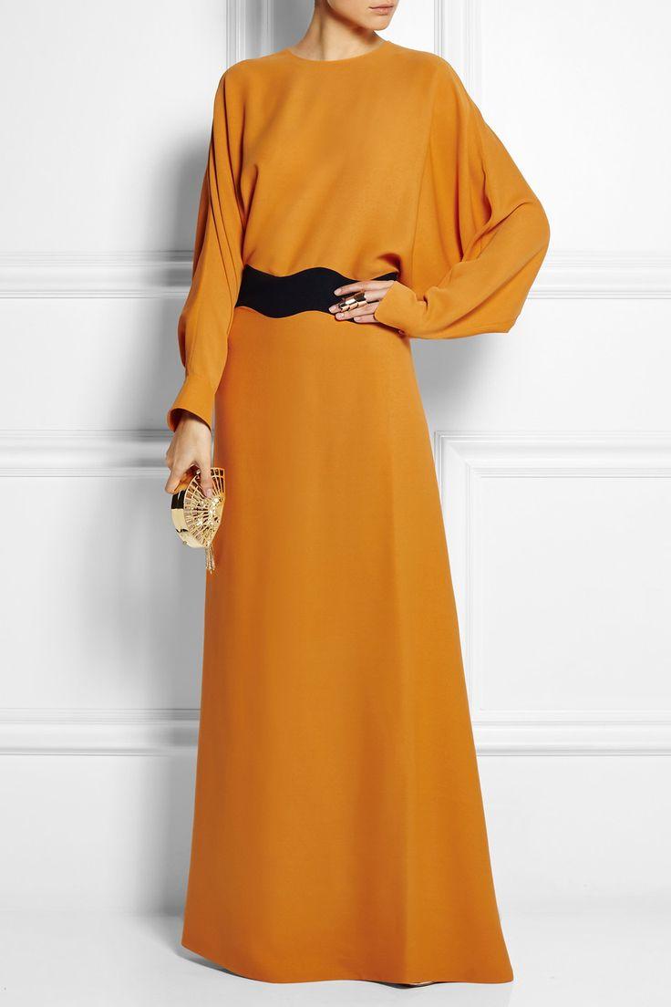 Agnona|Two-tone silk gown|NET-A-PORTER.COM