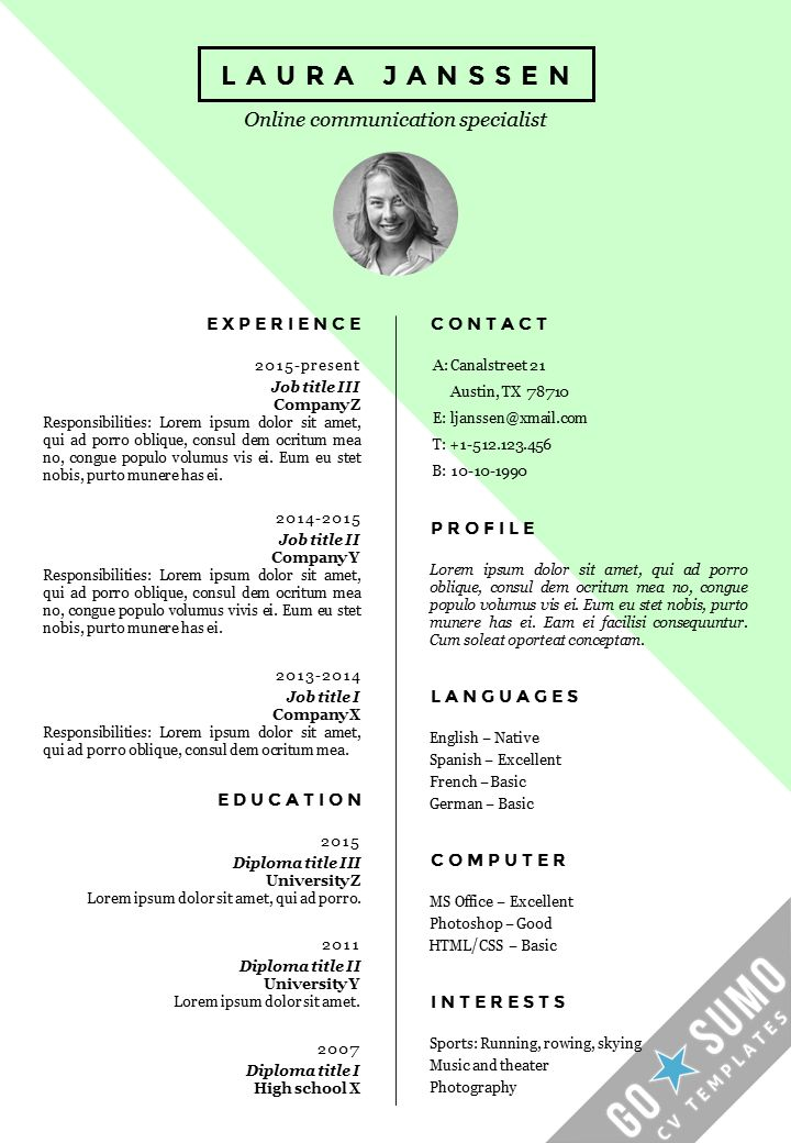 52 best Go Sumo CV templates Resume Curriculum Vitae design - go resume