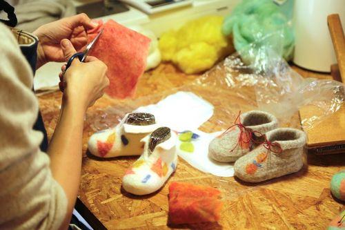 ■受注商品■【Felt Baby Shoes】ベビーシューズ | rui_textile