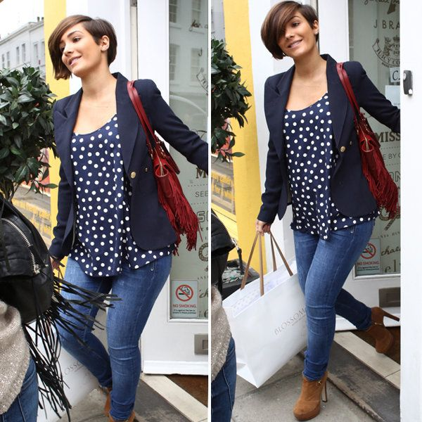 Pregnant Frankie Sandford hides her tiny bump under baggy top as she goes shopping for baby clothes
