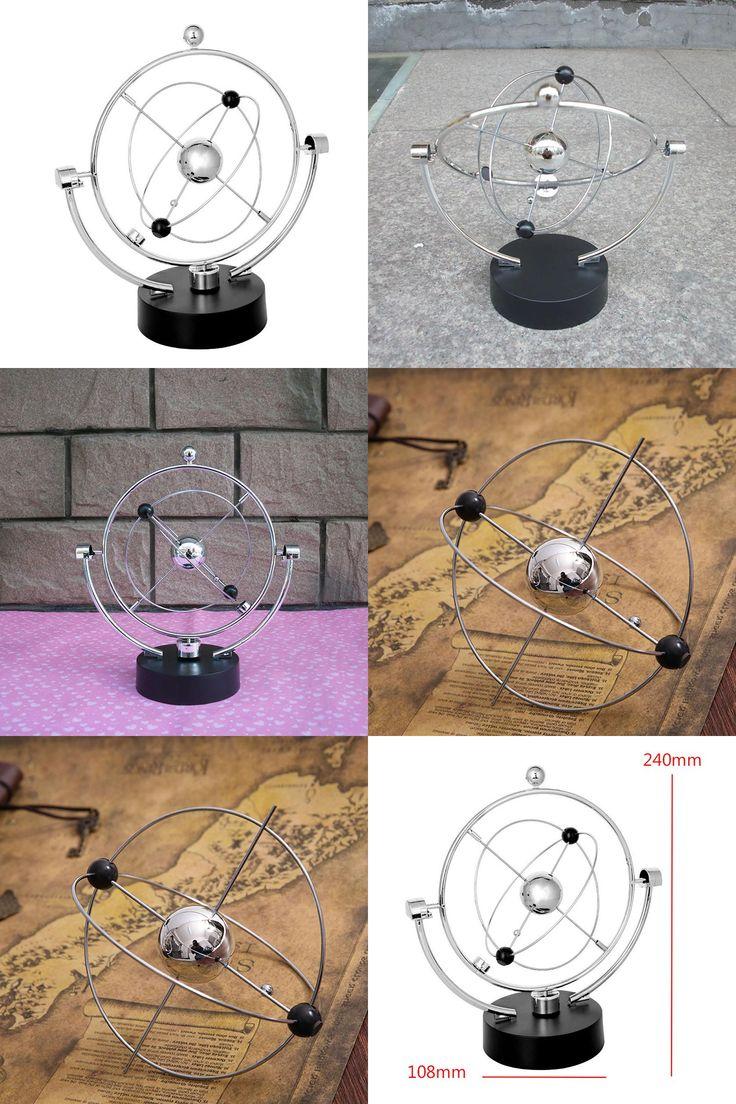 [Visit to Buy] 1Piece Kinetic Art ! Mobile Milky Way Gizmos Perpetual Motion Spherical Pendulum Revolving Desk Orbital Toy #Advertisement