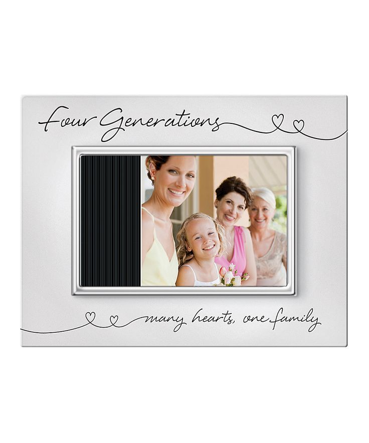 'Four Generations' Matte Metal Picture Frame