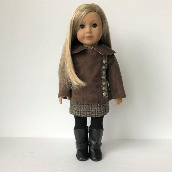 Réservé pour le client «MM» veste en velours matelassé pour la poupée American Girl et autres poupées de 18 pouces