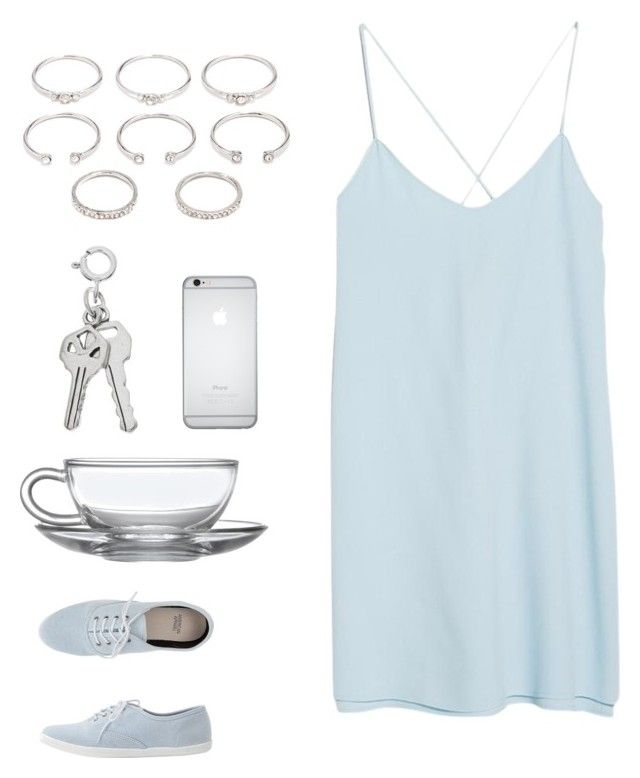 """""""Blue & Silver #1 (Kayla)"""" by tori-kaylabeauty ❤ liked on Polyvore featuring MANGO, Forever 21 and American Apparel"""