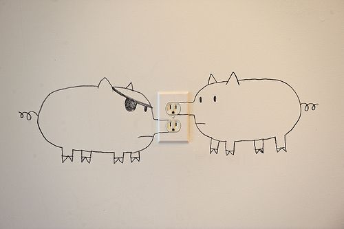 Snoulet: Don't be surprised if you come over and see a snoutlet in my apartment. I love this.: Mo'N Davis, Brock Davis, Child Rooms, Interiors Design, Funny Commercial, So Funny, Chalkboards Wall, White Wall, Kids Rooms