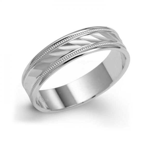 9 best Mens 5mm Wedding Band 14k White Gold images on Pinterest