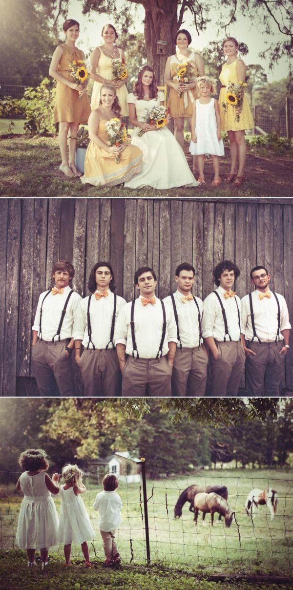 Yellow bridesmaids! - Fru lycklig